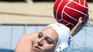 TALENT POOL: Gold Coast player Peta Schultz in action during the weekend of five-a-side water polo at the Byron Bay pool.