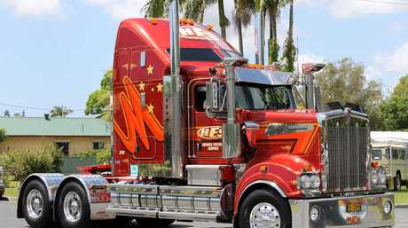 SHINING EXAMPLE: Shane Johnston's 2013 Kenworth T909 was named Truck of the Show after impressing during the annual Mullumbimby Show truck parade.
