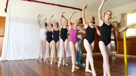 POINTE TO PROVE: Young dancers at Susan Whiteman's Dance Studio in Alstonville.