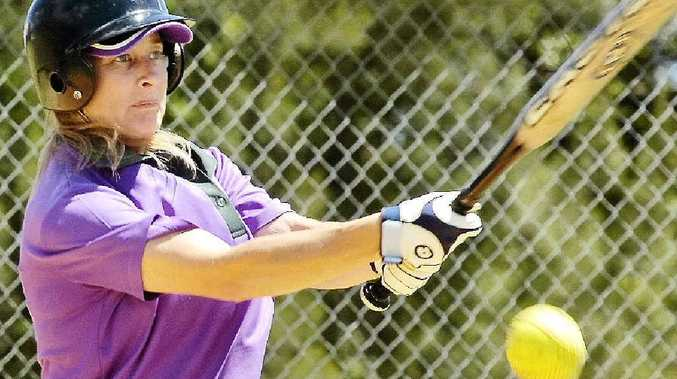 IMPRESSIVE: Chris Costello had a good day in Far North Coast softball at Albert Park, Lismore, filling in capably for Ballina and playing brilliantly in the outfield for Blues Sistas.