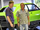 Gerry Coppleman of Classic Ridz in Warana pictured with Bill as he sees the car for the first time.