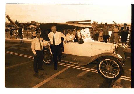 THEN: Opening Matthew Flinders Bridge by Premier Wayne Goss 1993 Photo Contributed