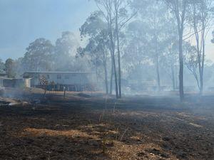 Fire crews save home