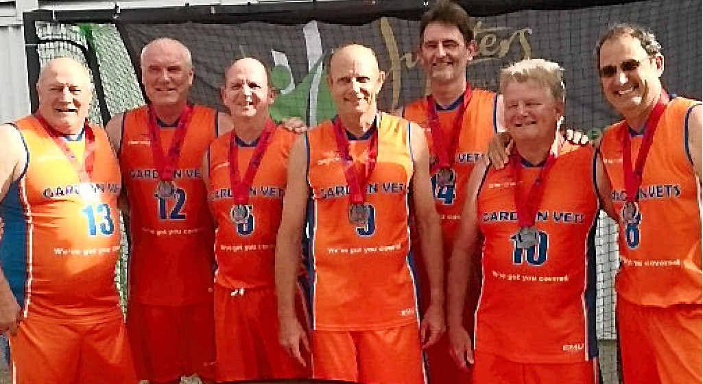 Mackay Gardian Vets (from left) Wayne Sutton, Phillip Van de Clay, Michael Jorgensen, Kerry Craig, Greg Robinson, Allan Edwards and Eric Rickman.