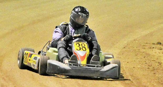 Rodney Paulsen at the Gladstone Show Society Speedway event at the Gladstone Showgrounds.