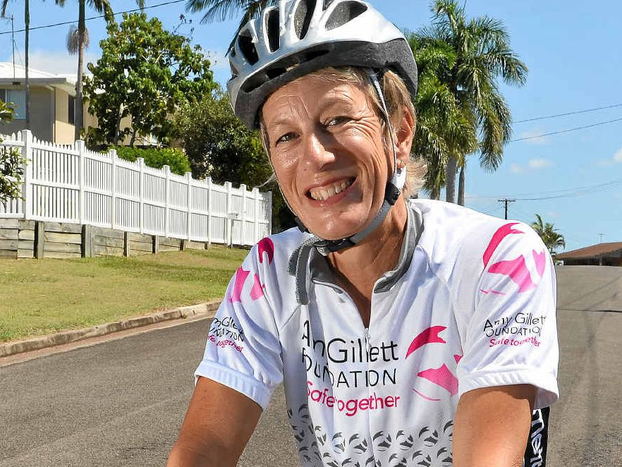 SHARED SPACE: Andrea Ferris says cyclists and motorists can share the road.
