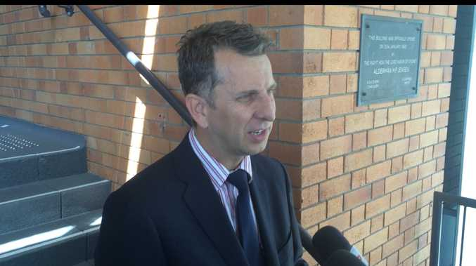 NSW Treasurer Andrew Constance talks about the State Government's employment strategies at Lismore.