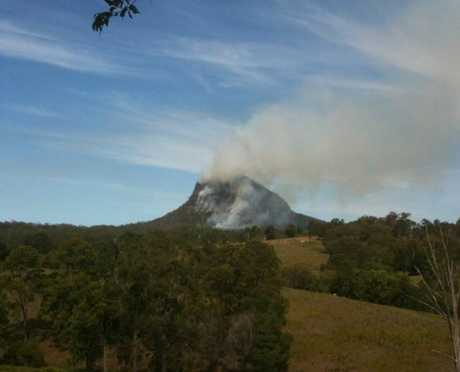 Fire at Mt Cooroora, Pomona