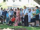 Part of the crowd at the Freedom Park cenotaph on Remembrance Day in Hervey Bay.