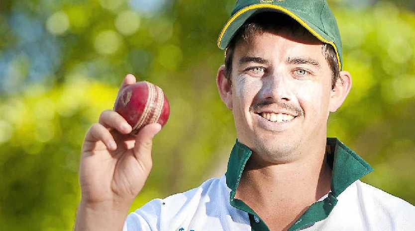 ON TARGET: Steve Pugh has achieved a feat most cricketers will only ever dream of, taking nine wickets in an innings.