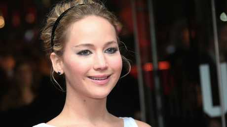 Jennifer Lawrence at the world premiere in London of the The Hunger Games: Mockingjay Part 1.