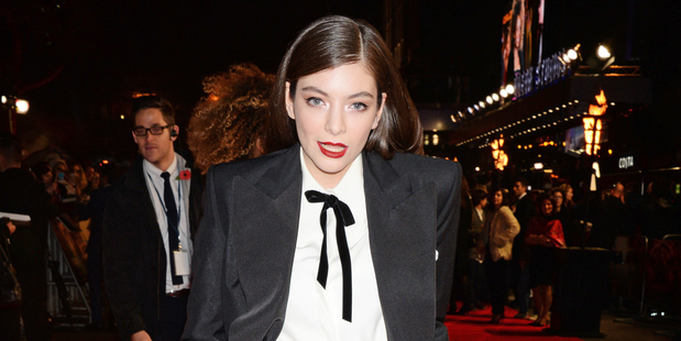 Lorde attends the London premier of The Hunger Games: Mockingjay Part 1.