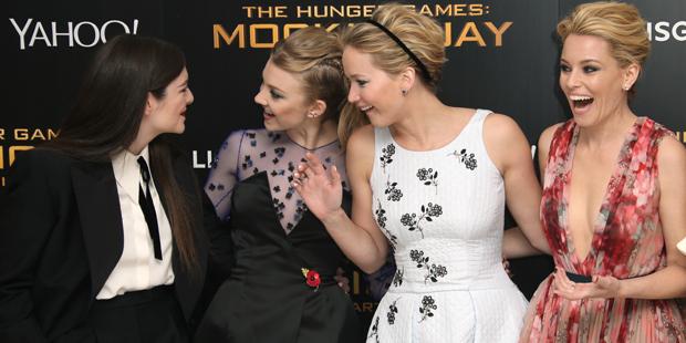 Lorde, Natalie Dormer, Jennifer Lawrence and Elizabeth Banks.