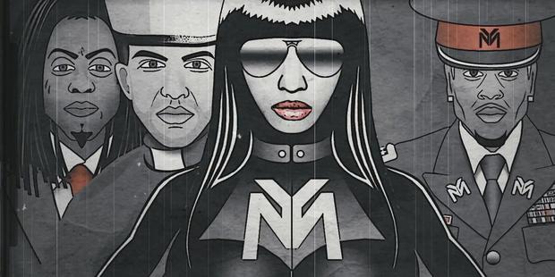 A still from Nicki Minaj's music video 'Only'. Photo / YouTube