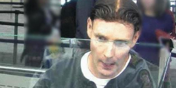 CCTV footage shows Phillip John Smith passing through Auckland Airport. Photo / NZ Police