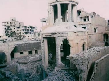 Islamists have blown up the great Armenian church in Deir el-Zour.