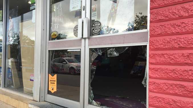 Gladstone's Sportscene store on Toolooa St was broken into on Monday night.