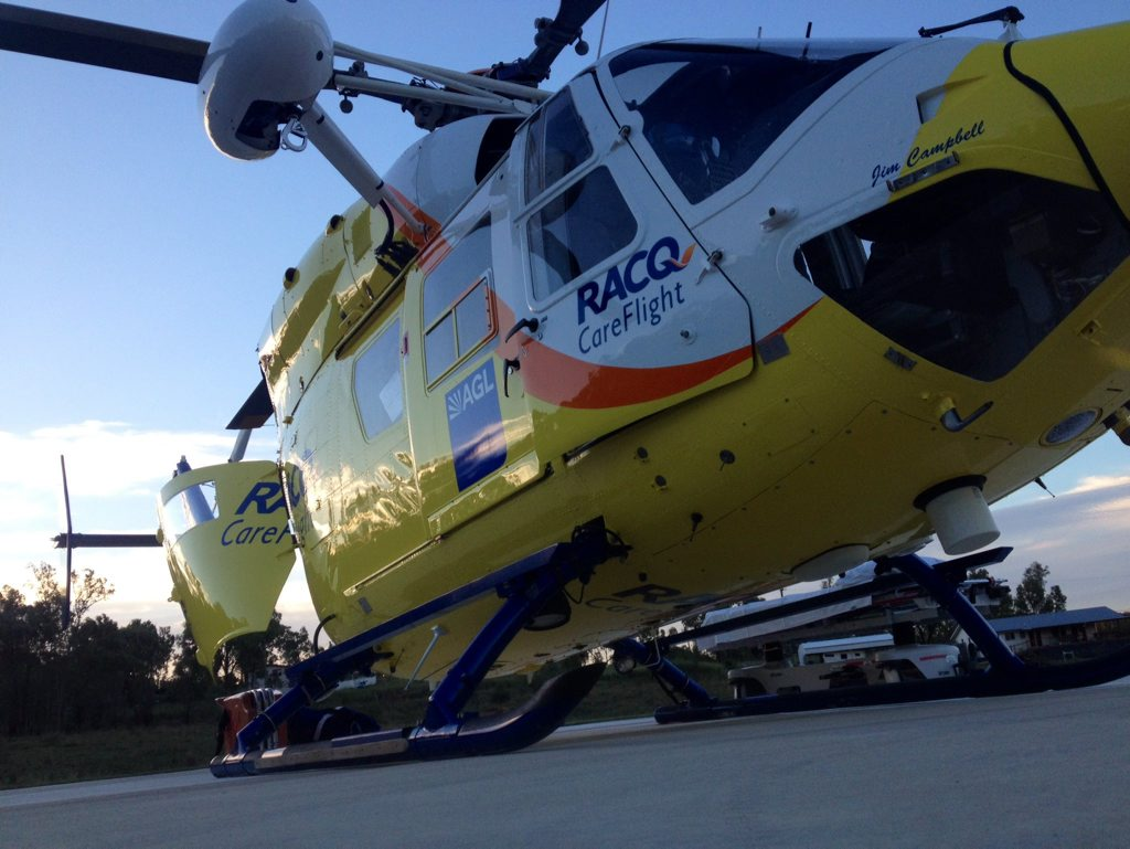 The Sunshine Coast RACQ CareFlight Rescue has taken a boy to hospital in Brisbane after a quad bike accident near Kingaroy