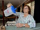 Sharon Bredhauer is angry with council about water services.