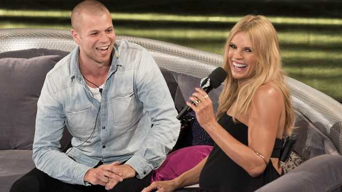 Big Brother evictee Tom Mackay chats with host Sonia Kruger.