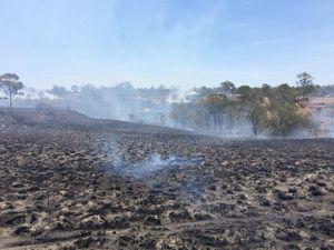 Strike team fighting bush fire in Ellesmere