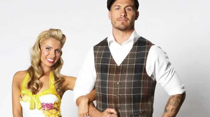 Matt Cooper and his dance partner Masha Belash.