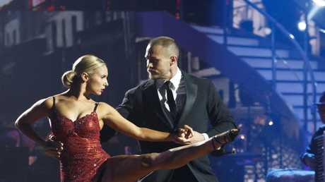 Matt Cooper and Masha Belash perform on Dancing With The Stars.