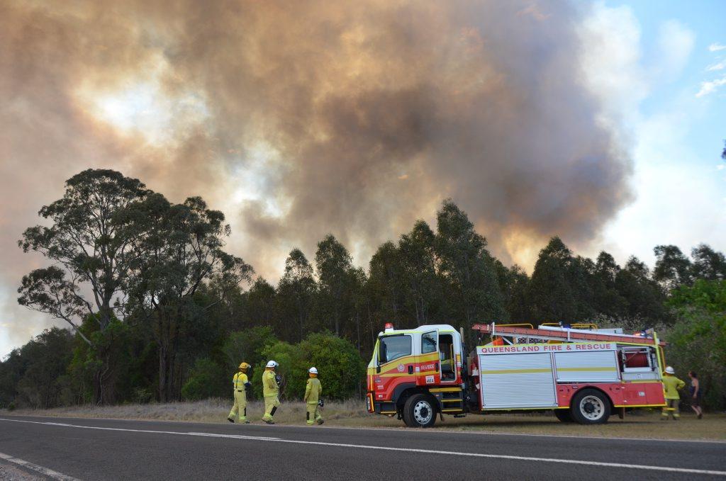 BUSHFIRE SEASON: Firies fight fires across the South Burnett.