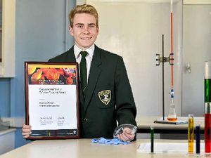 Prestigious award tops long interest in science