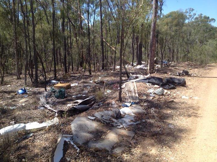 Yvette Luckock posted this photo of illegal dumping in the Gladstone region, on The Observer's Facebook page.
