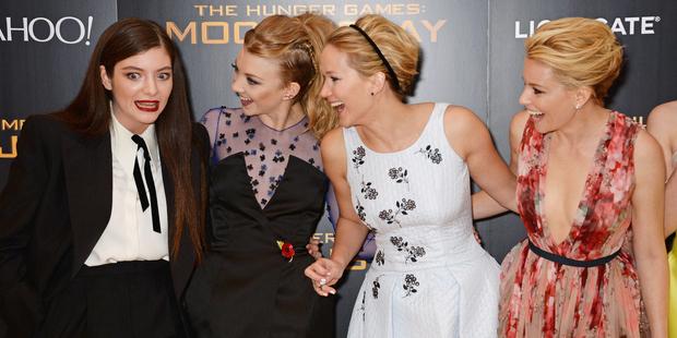 Lorde, Natalie Dormer, Jennifer Lawrence and Elizabeth Banks. Photo / Dave M. Benett (Getty Images)