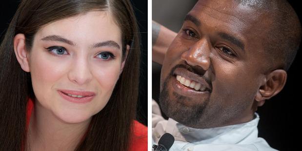 Kiwi singer Lorde and rapper Kanye West.