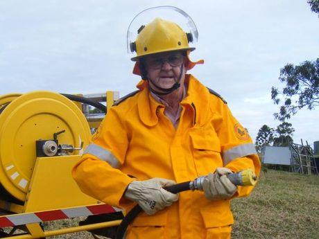 Rural firefighting leader Mike Garrahy.