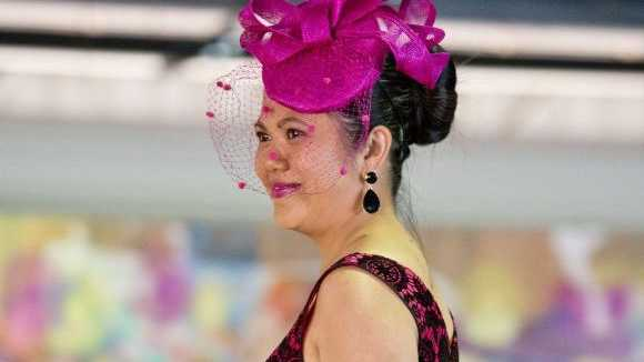 ( from left ) Melbourne Cup day at Clifford Park race course . Tuesday, Nov 4, 2014 . Photo Nev Madsen / The Chronicle