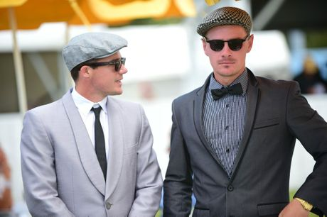 (left) Iden Jenner and Adon Kronk at Corbould Park Caloundra for Melbourne Cup Day. Photo: Iain Curry / Sunshine Coast Daily