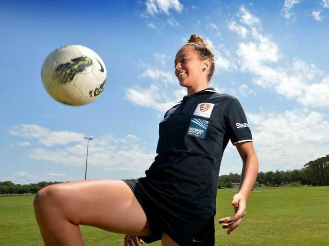 Isobel Dalton has been playing for the Brisbane Roar soccer team. Photo: Warren Lynam / Sunshine Coast Daily