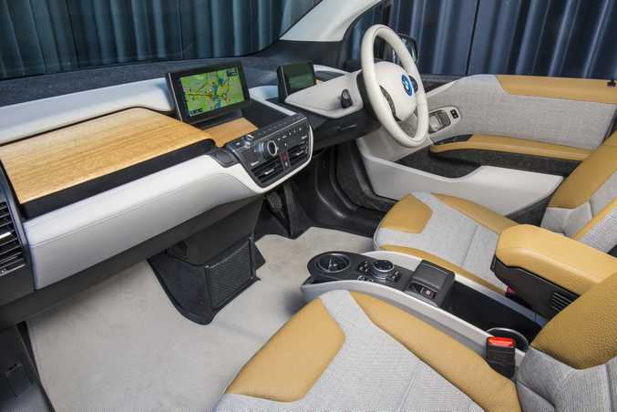 Inside the new BMW i3.