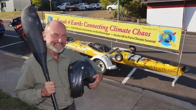 Climate change activist Steve Posselt will today visit Coffs Harbour.