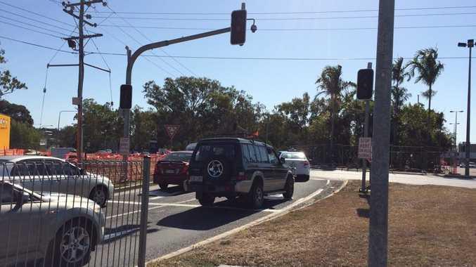Kin Kora roundabout at peak hour.