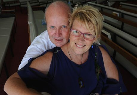 Uniting Church minister Brian Hoole with his wife Claire.