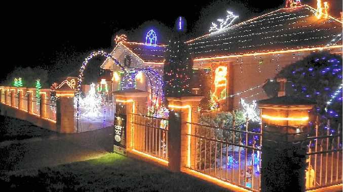 SHARE THE JOY: Enter the Christmas Lights competition to win Bunnings vouchers.
