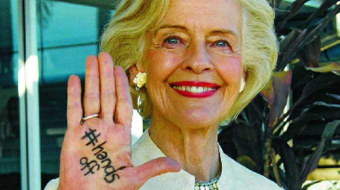 SUPPORT: Former Governor General Dame Quentin Bryce has lent her hand to APN's Hands Off campaign.