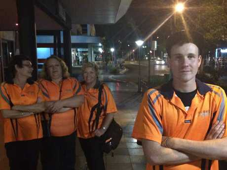 ANGELS OF THE NIGHT: Donnie Guerin with Karen Munro, Vicki Stark and Lynn Turner, patrols Maroochydore streets in the wee small hours.