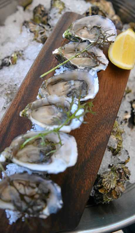 Freshly shucked: The oyster bar opens at 3pm every day.