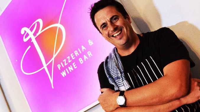 CELEBRITY: Darren Simpson is now executive chef at BV Pizzeria & Wine Bar, Kawana Island.