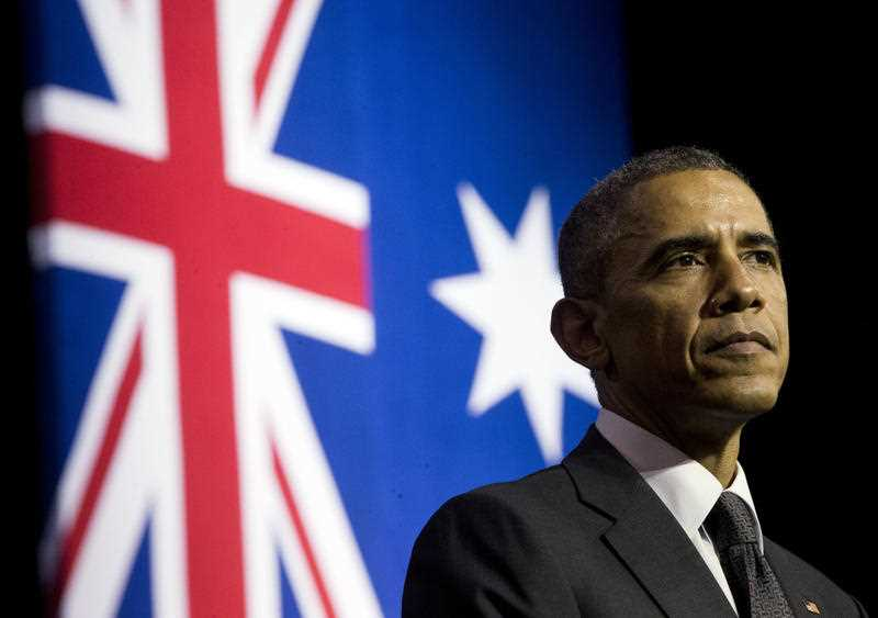 US President Barack Obama warned about the threat of climate change when he visited Brisbane in 2014