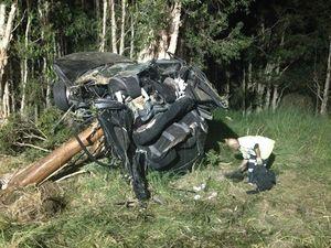 Man dead after single vehicle crash on Sunshine Motorway