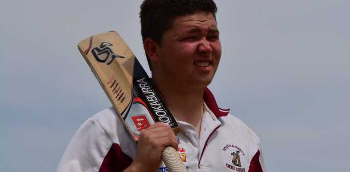 MASTER CLASS: Lehman Brunjes recorded the first ever century in South Burnett u19 history.