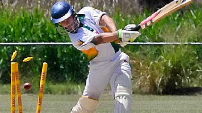 BITS get bowled over, Mathew Harrison lost his stumps in the process.