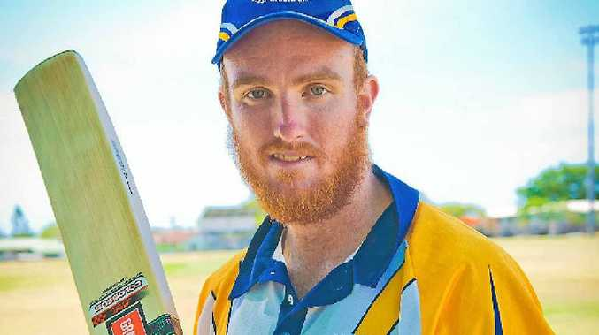 GREAT KNOCK: Dylan Cross scored a quick 23 to help Gladstone to victory Callide Dawson at Yaralla Oval.
